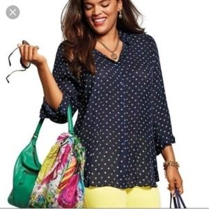 [Cabi] Martini Long Sleeve Button Down Blouse